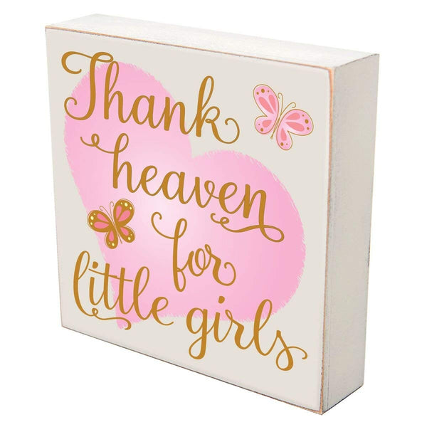 Digitally Printed Shadow Box Wall Decor - Thank Heaven For Little Girls