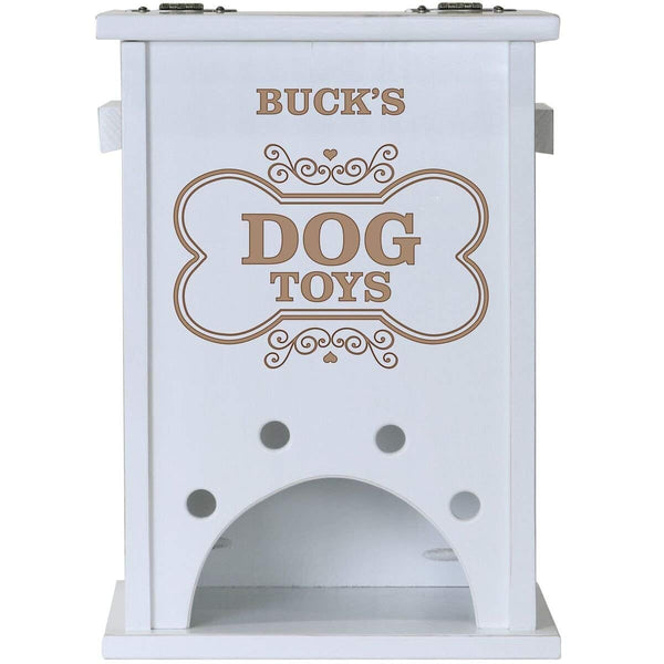 Personalized Pet Toy Box White - Dog Toys