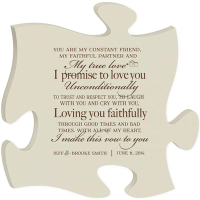 Personalized Wedding Gift Wall Art Puzzle Piece - True Love