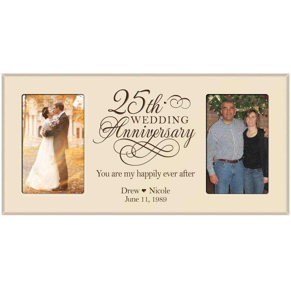 Wedding Anniversary Gift.25th Anniversary Gift Personalized Wedding Anniversary Picture Frame
