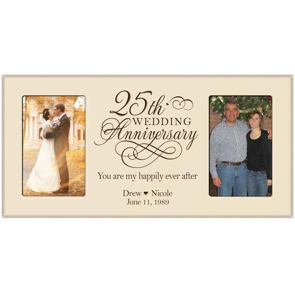 25th Wedding Anniversary 4x6 Photo Frame