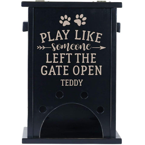 Personalized Pine Pet Toy Box - Play Like Someone Black
