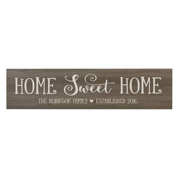 "LifeSong Milestones Home Sweet Home Personalized Family Established Wall Signs, Last Name sign for home, Wedding, Anniversary, Living Room, Entryway 10"" H x 40"" L (Salt Oak)"