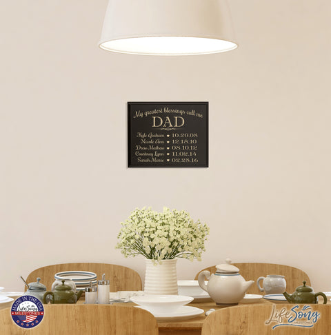 Personalized Hanging Wall Plaque For Dad.