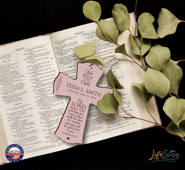 wall cross wall decor christening baptism gift 1st holy communion