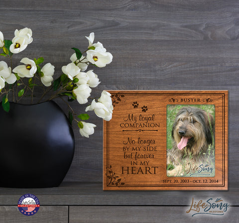 Pet Memorial Photo Frame - My Loyal Companion - Holds 4x6 Photo