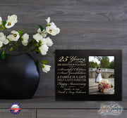 Personalized 25th Year Anniversary Photo Frame - Counting Our Blessings Black
