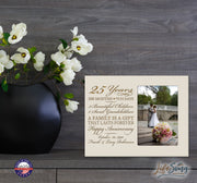 Personalized 25th Year Anniversary Photo Frame - Counting Our Blessings Ivory