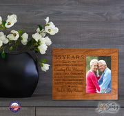 Personalized 55th Year Anniversary Photo Frame - Counting Our Blessings Cherry
