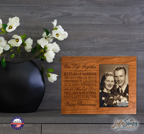 65th Anniversary Photo Frame - Our Life Together Cherry