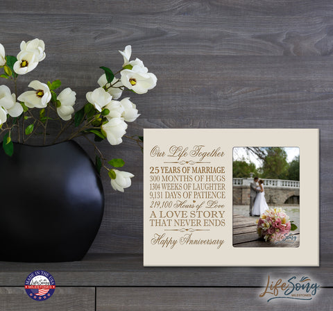 25th Anniversary Photo Frame - Our Life Together Ivory