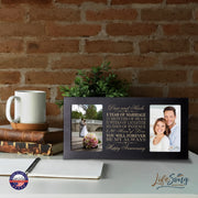 Personalized 1st Anniversary Double Photo Frame - Happy Anniversary