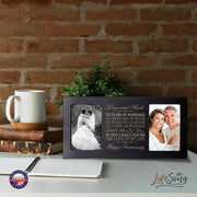 Personalized 35th Anniversary Double Photo Frame - Happy Anniversary