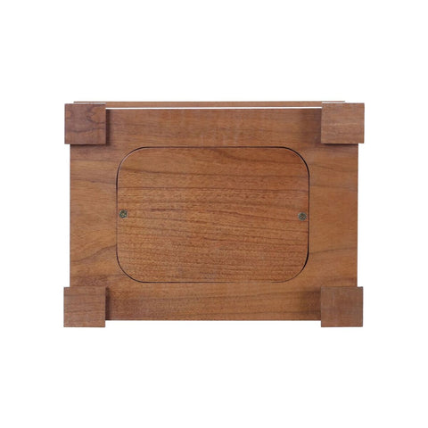 "Engraved Wooden Urn Box for Human Ashes 9.75"" x 7.75"" x 4.25"" holds 210 cu in Someone We Love"