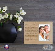 Personalized 40th Anniversary Photo Frame - Happy Anniversary Maple