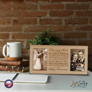 Personalized 65th Anniversary Double Photo Frame - Happy Anniversary