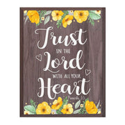Inspirational Salt Oak Wood Home Decor Wall Plaque - Trust In The Lord