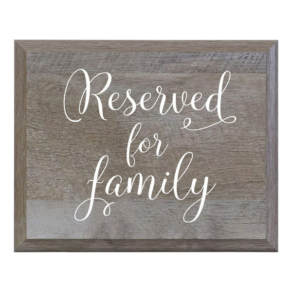 Reserved For Family Wooden Decorative Wedding Party