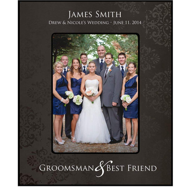 Groomsmen picture frame, Personalized Groomsmen & Best Man and Best Friend Gift Holds 5 x 7 Photo