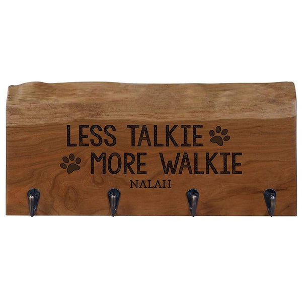 "Reclaimed Personalized Live Edge Cherry Decor Mounted Coat Key and Hat Dog leash Rack Storage with 4 hooks by Rooms Organized (A, 16"" L x 7"" w x 4.25"" deep)"