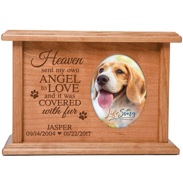 Personalized Pet Cremation Urn Box - Heaven Sent My Own Angel