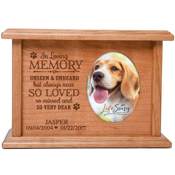 Personalized Pet Cremation Urn - So Very Dear