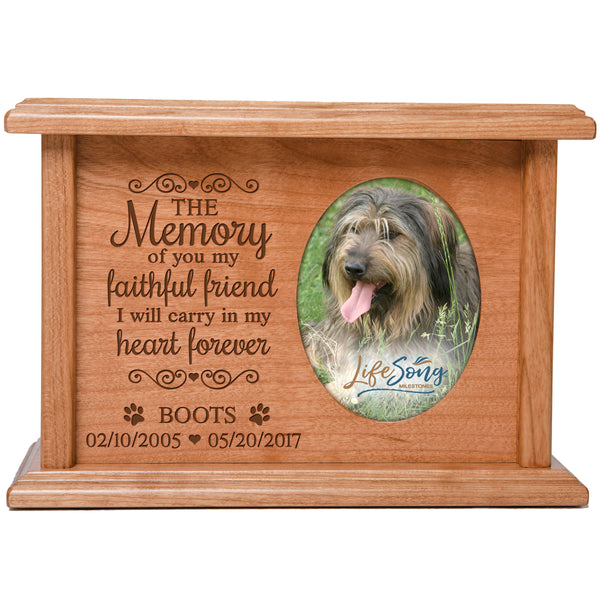 Personalized Pet Cremation Urn - The Memory Of You