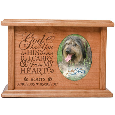 Personalized Pet Cremation Urn Box - God Has You