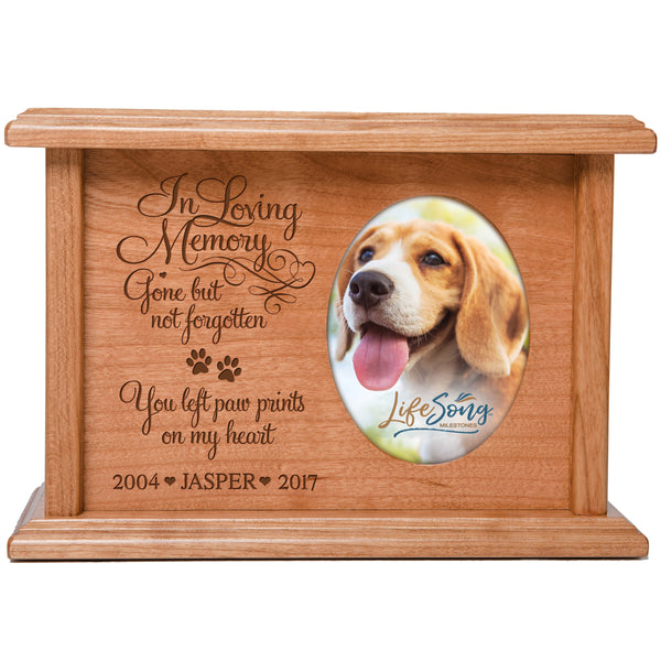 Personalized Pet Cremation Urn Box - In Loving Memory