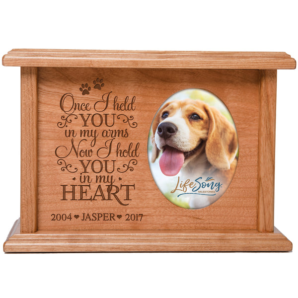 Personalized Pet Cremation Urn - Once I Held You