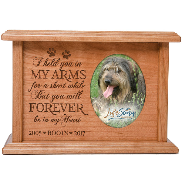 Personalized Pet Cremation Urn Box - I Held You