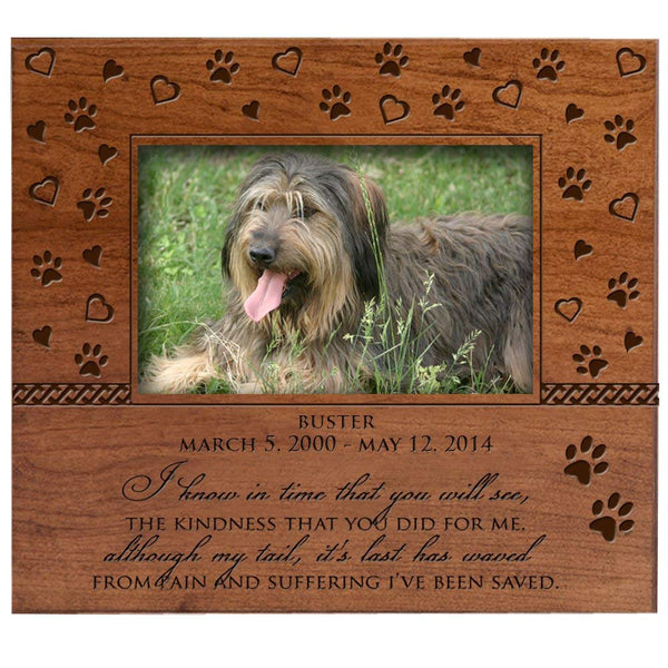 Personalized Photo Frame with Paw Prints and Hearts