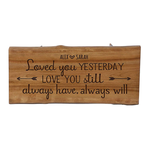 "Personalized Solid Cherry Wood Step Stool 8 3/4"" x 16"""