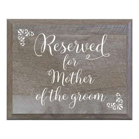 """Reserved for Mother"" Decorative Wedding Signs - Ceremony & Reception"