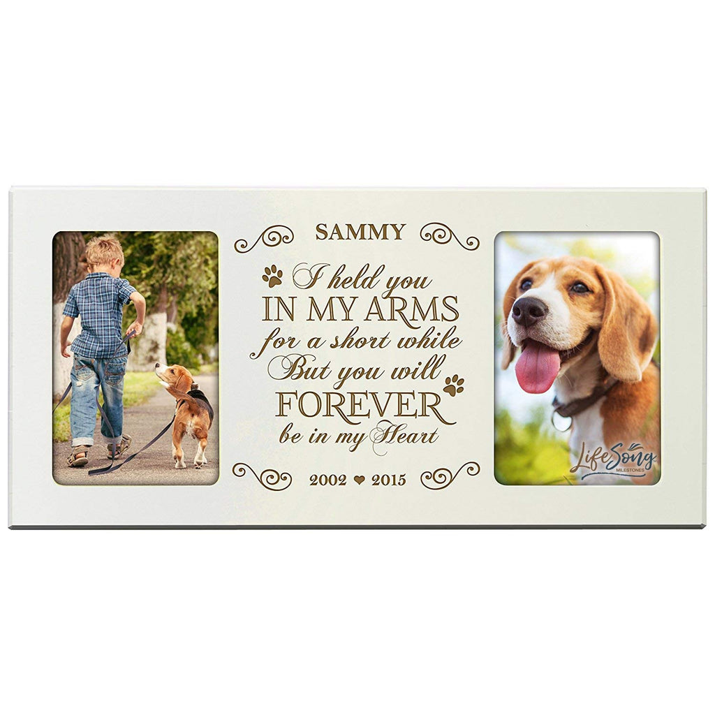 Personalized Pet Memorial Gift, Sympathy Photo Frame, I Held You In ...