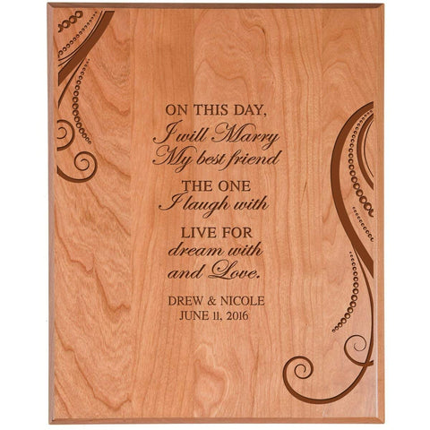 wooden anniversary wedding marriage gift on this day