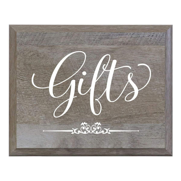 """Gifts"" Wedding Sign for Ceremony or Reception - Bride and Groom Gift"
