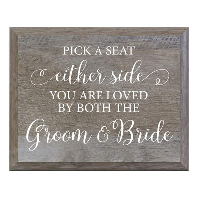 """Pick A Seat"" Decorative Wedding Signs for Ceremony and Reception"