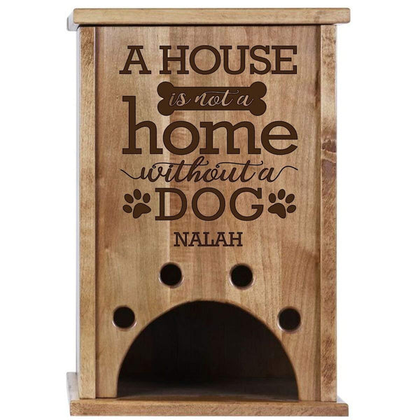 Personalized Pine Wood Toy Storage - A House Is Not A Home Cherry