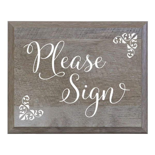 LifeSong Milestones Please Sign Decorative Wedding Party sign for Ceremony and Reception for Bride and Groom (6x8)