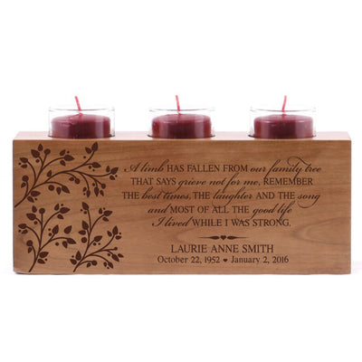 Personalized 3 Votive Tealight Candle Holder 10x4x4