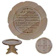 Personalized 25th Anniversary Maple Cake Stands Milestones