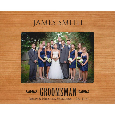 "Groomsmen picture frame, Best Man Gifts Personalized Groomsmen Gift Holds 5 x 7 Photo (10.75"" w x 8.75"" h)"