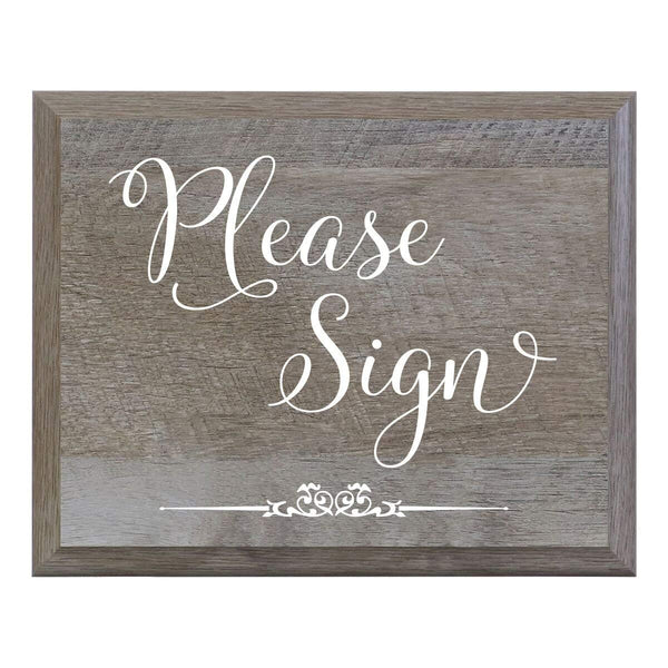 Barn Wood Wedding Party Sign - Please Sign