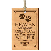 Custom Engraved Memorial Ornament for Loss of Pet,Dog or Cat - Heaven Sent My Own