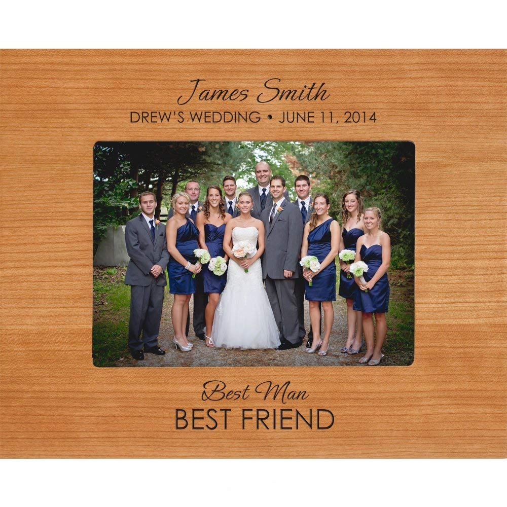 Groomsmen Picture Frame Personalized Best Man And Best Friend Photo