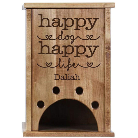 Personalized Pine Pet Storage Toy Box - Happy Dog Happy Life