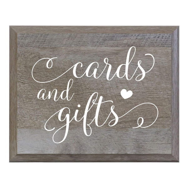 LifeSong Milestones Decorative Cards and Gifts Wedding Party sign for Ceremony and Reception for Bride and Groom (6x8)