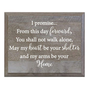I Promise From This Day Decorative Wedding Party Sign