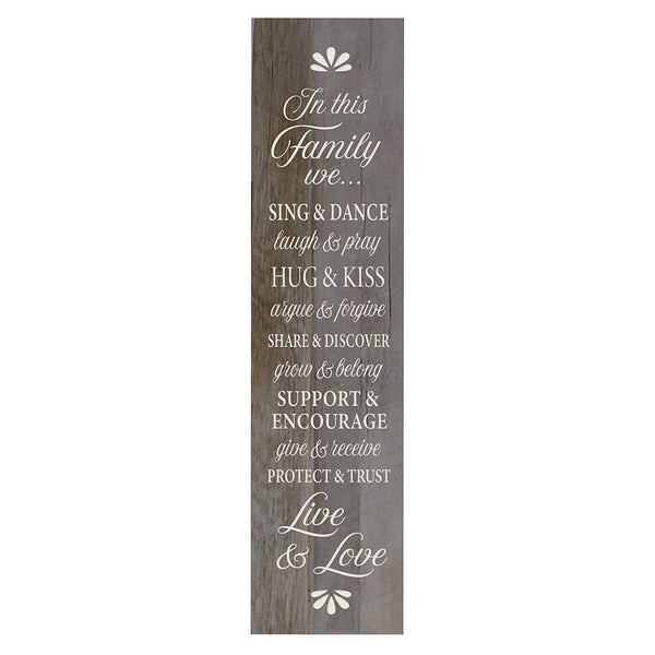 In This Family We Sing and Dance Decorative Wall Art Sign